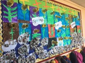 The Spring display outside Rang 1 classroom.
