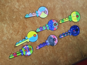 4th class made keys that listed out ways to unlock friendship